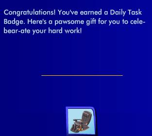 Working Reclining Chair: Level 1 Bronze Daily Tasks Reward, Day 5   Screen13