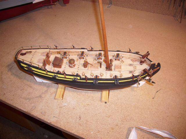 Restaurierung-HMS-Sharke Englischer Kriegskutter in 1:50 Dsci1115