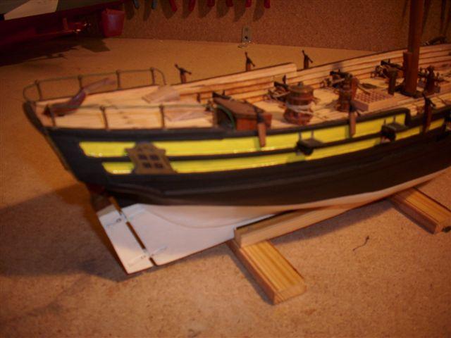 Restaurierung-HMS-Sharke Englischer Kriegskutter in 1:50 Dsci1117