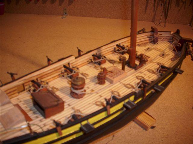 Restaurierung-HMS-Sharke Englischer Kriegskutter in 1:50 Dsci1118