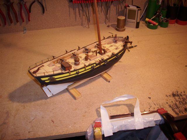 Restaurierung-HMS-Sharke Englischer Kriegskutter in 1:50 Dsci1119