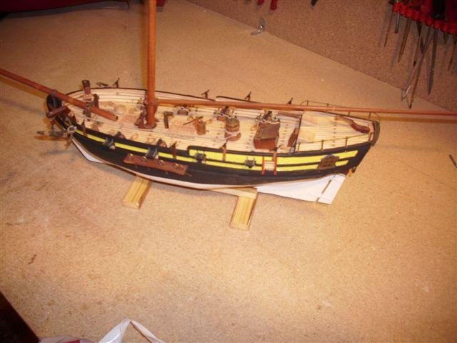 Restaurierung-HMS-Sharke Englischer Kriegskutter in 1:50 Dsci1122