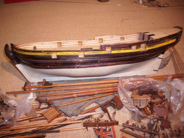 Restaurierung-HMS-Sharke Englischer Kriegskutter in 1:50 Sa110