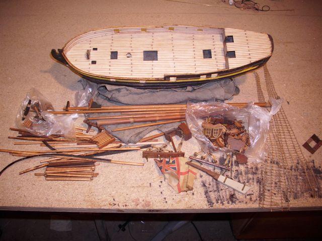 Restaurierung-HMS-Sharke Englischer Kriegskutter in 1:50 Sa410