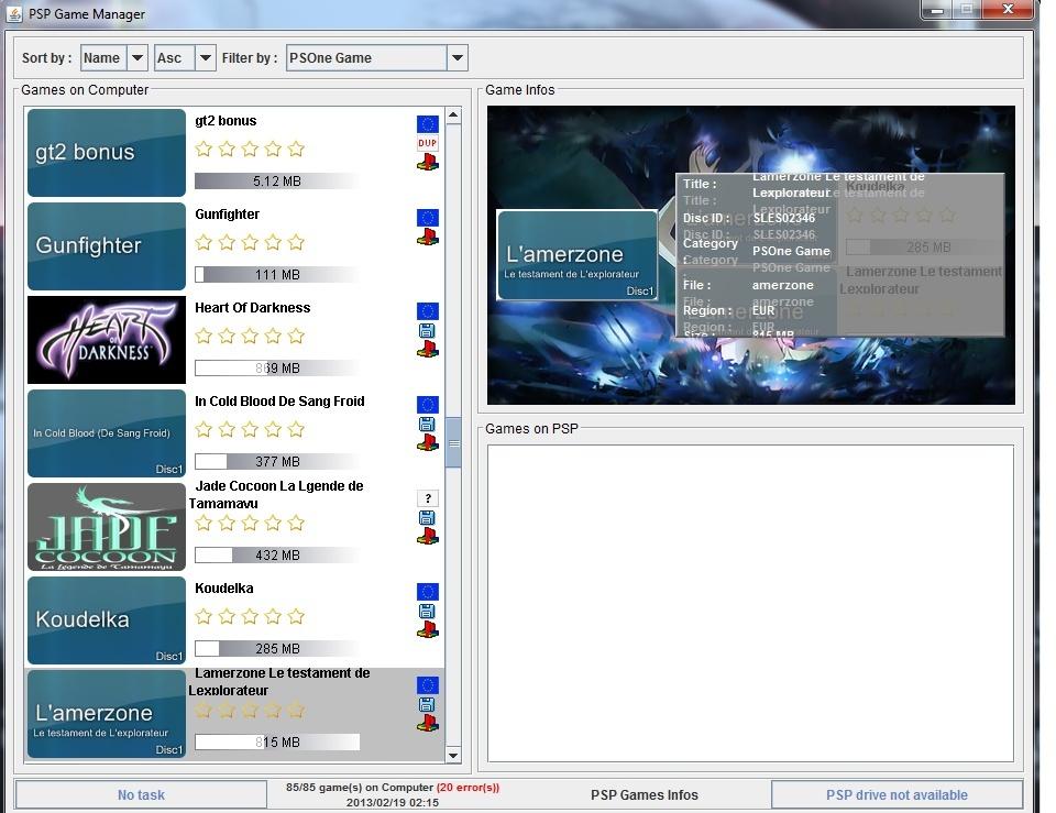 Gérer ses jeux PSP avec PSP Game Manager Sans_t13