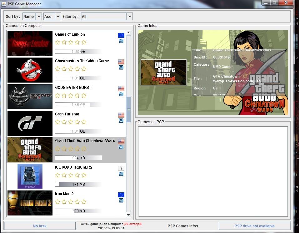 Gérer ses jeux PSP avec PSP Game Manager Sans_t15