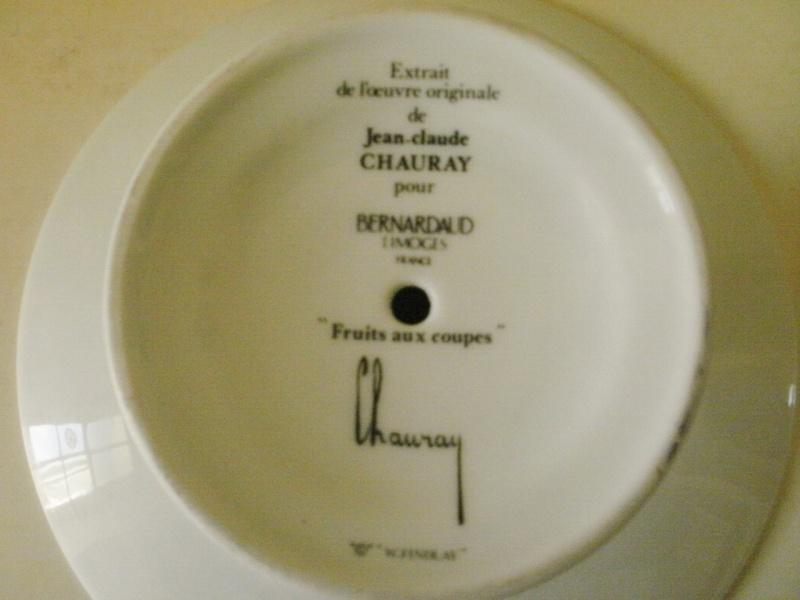 coupe aux fruits -Jean Claude CHAURAY pour BERNARDAUD LIMOGES P1020217