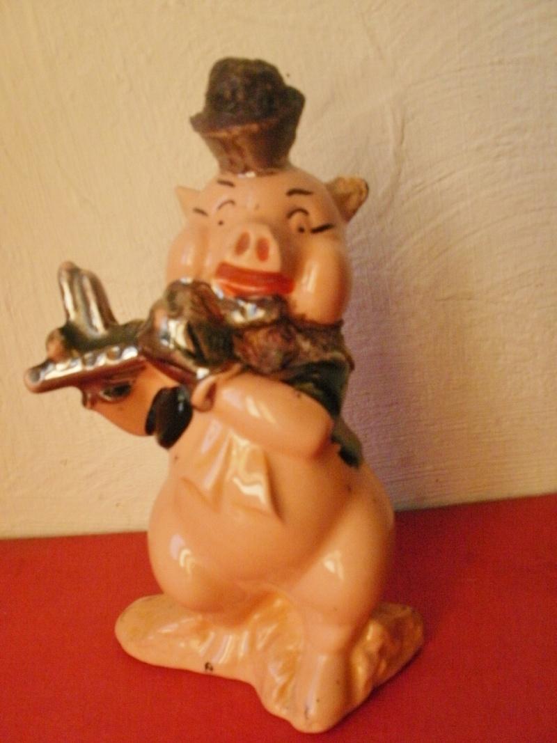 tirelire à casser petit cochon 1958 Pc190110