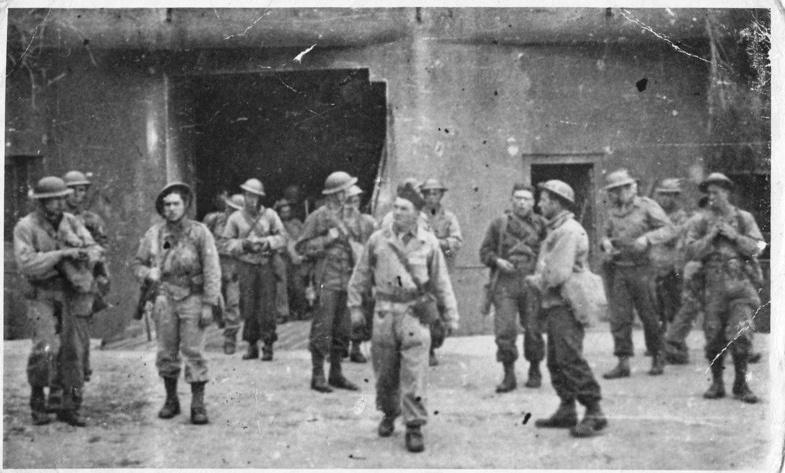 Gros-ouvrage de Roquebrune-Cornillat, entrainement sections d'assaut 1ère DFL Df10