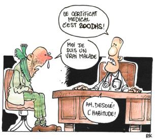 Une florissante «industrie» de faux certificats médicaux  P24_1410