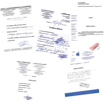 Une florissante «industrie» de faux certificats médicaux  P25_2010