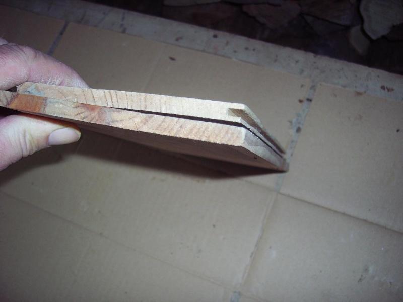 Bricolage d'un étui pour couteau. Imgp5114