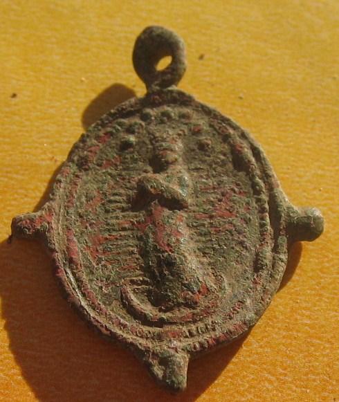 Médaille Avers Vierge/Revers Scène de la crucifixion - XVIIème Img_5620