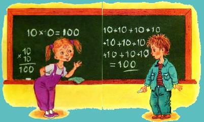 Учим таблицу умножения Evy10