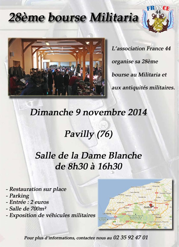 28e bourse militaria de Pavilly le dimanche 9 novembre 2014 4-affi10