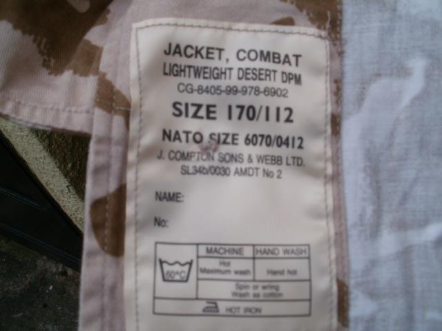 British Jacket lightweight-Gulf War. P1310012