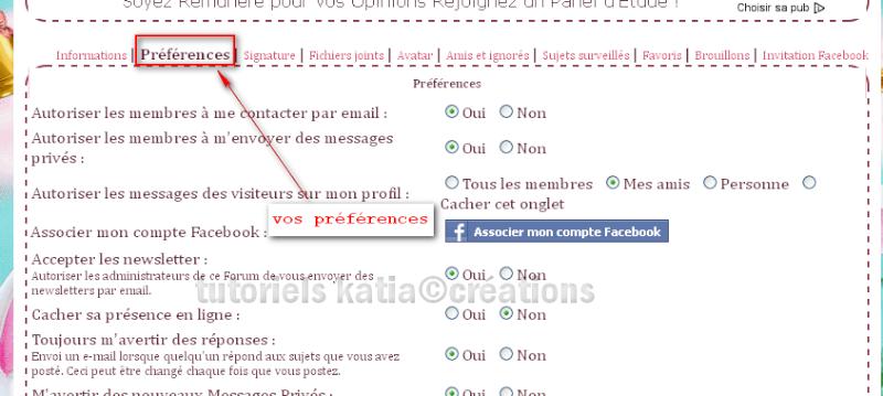 Comment édité votre profil sur le forum Editer12