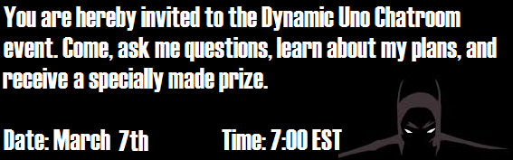 Dynamic Uno Chatroom Event-- UPDATED DATE Uno12