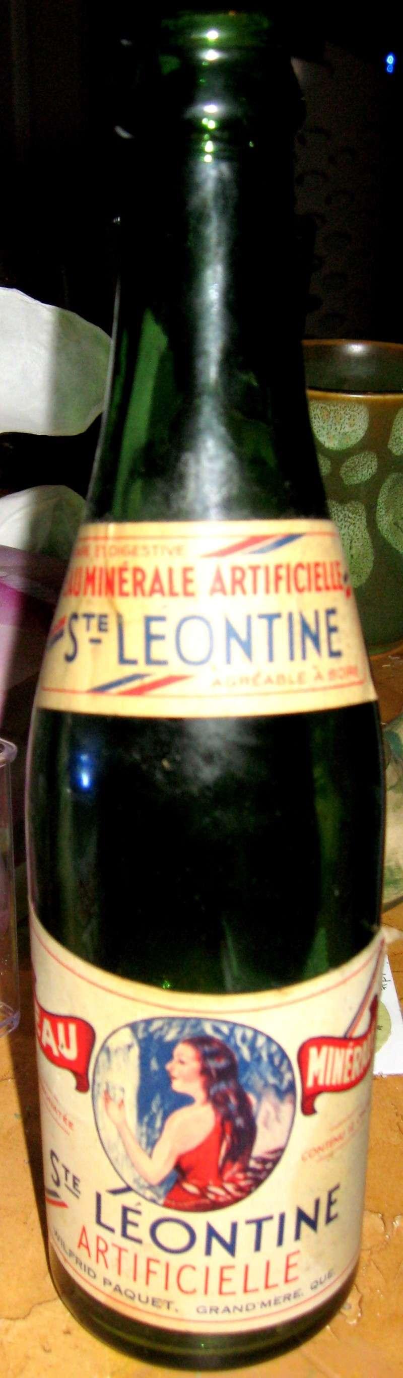 Eau minérale Ste-Leontine - Wilfrid Paquet Grand'Mère, PQ  Img_7810
