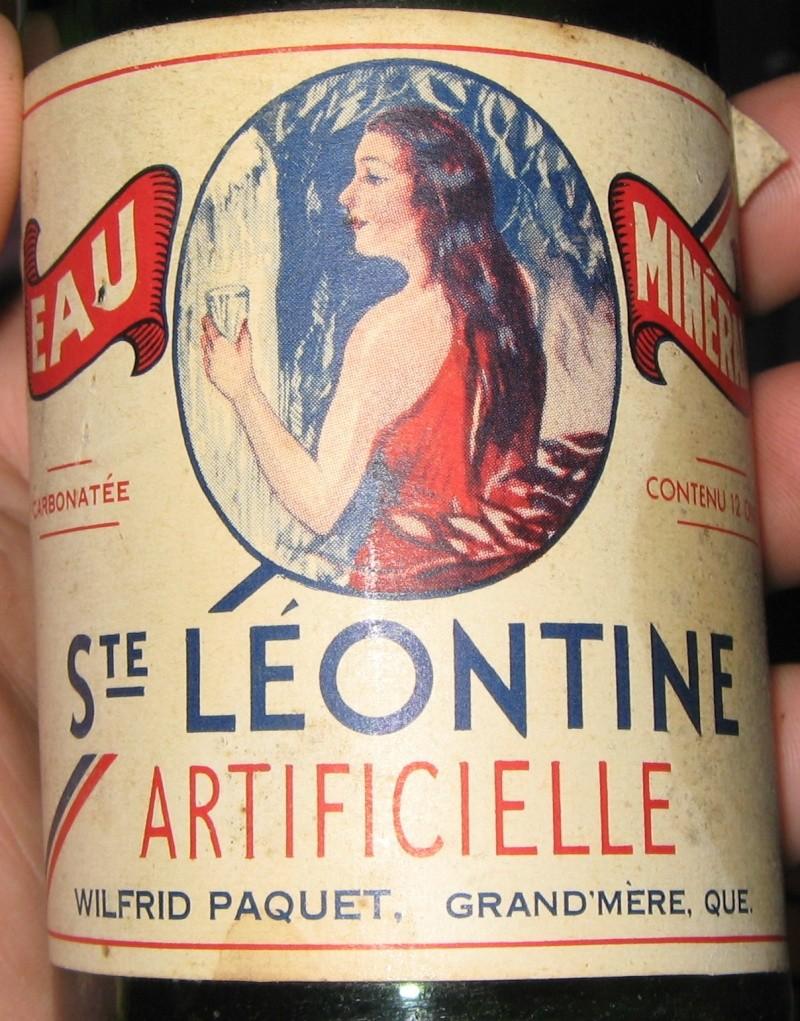 Eau minérale Ste-Leontine - Wilfrid Paquet Grand'Mère, PQ  Img_7812