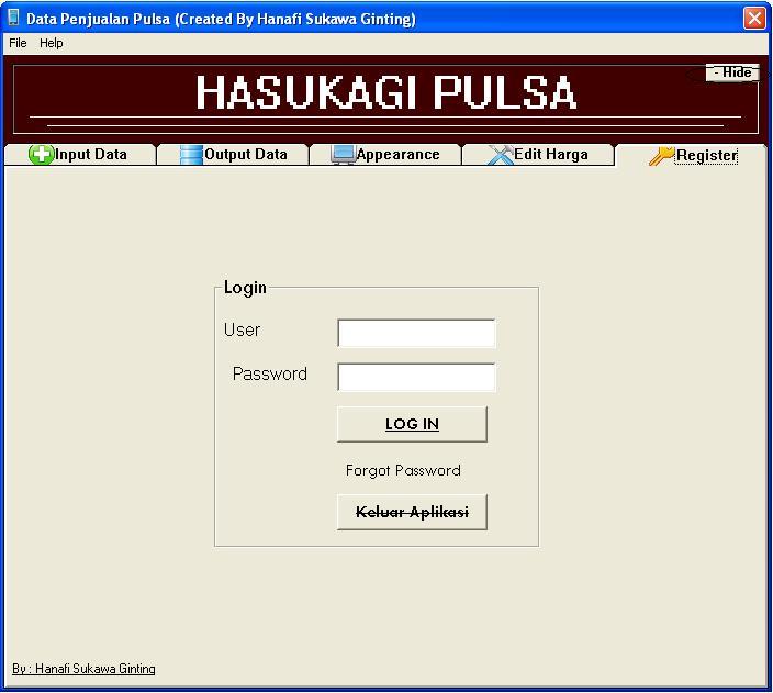 Aplikasi Penjualan Pulsa Final dengan visuaL basic 6 (VB6) 216