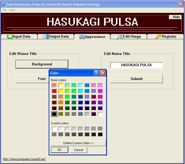 Aplikasi Penjualan Pulsa Final dengan visuaL basic 6 (VB6) 410