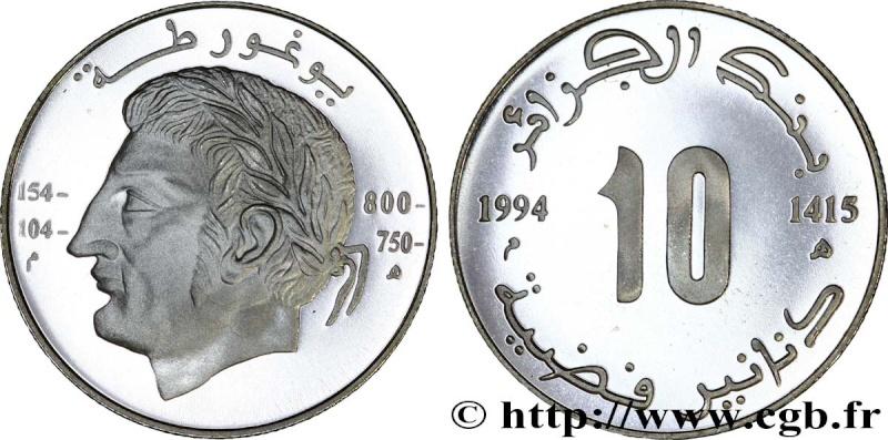 Faite vite 10 Dinars roi Numide Jugurtha 1994 à vendre  Fwo_2410