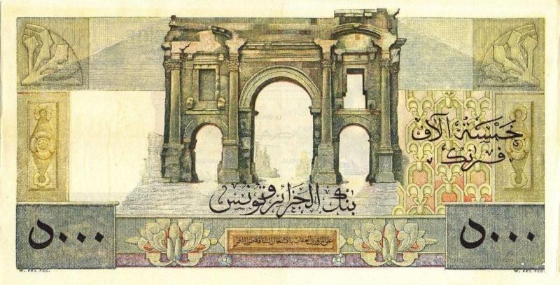 Émissions 5000 Francs Algérie de 1942 à 1946 (Photos rares) P18_0323