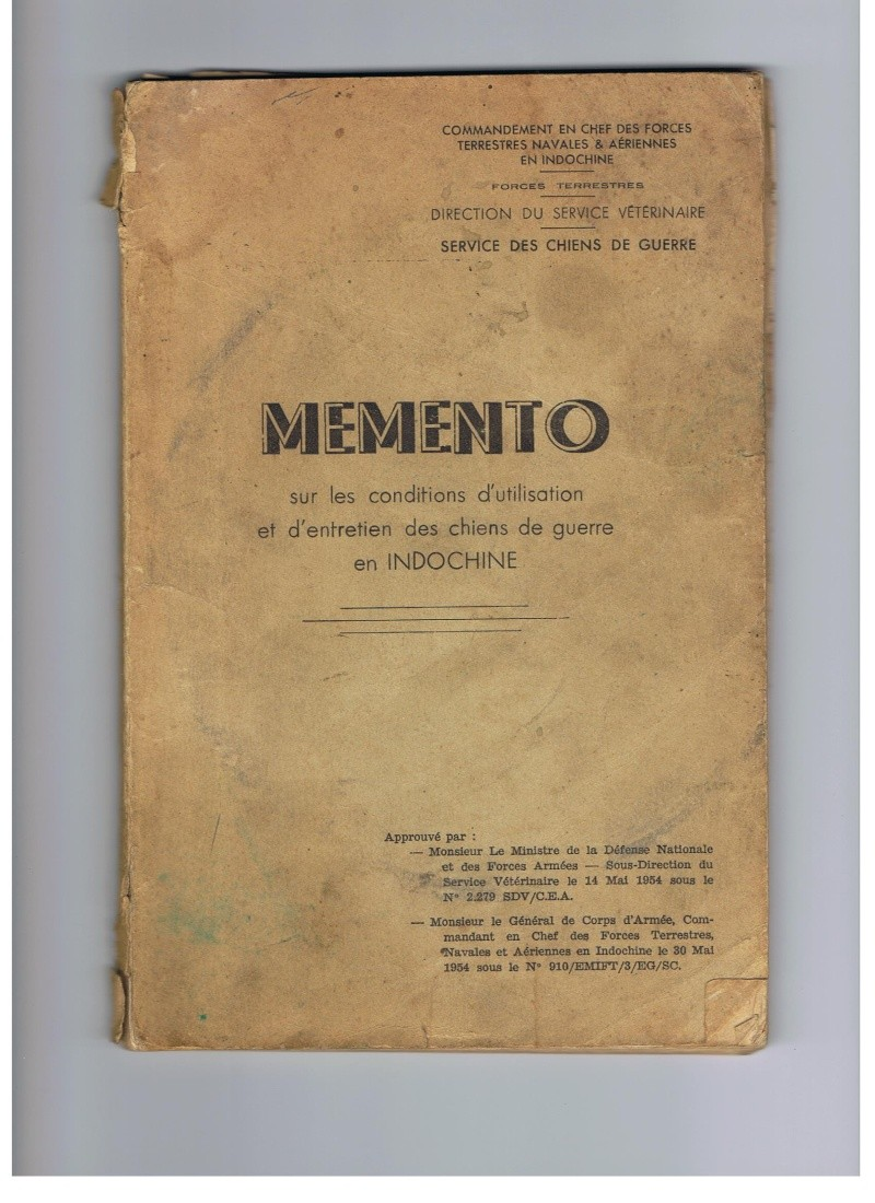 Memento sur l'utilisation du chien de guerre en Indochine Mement12