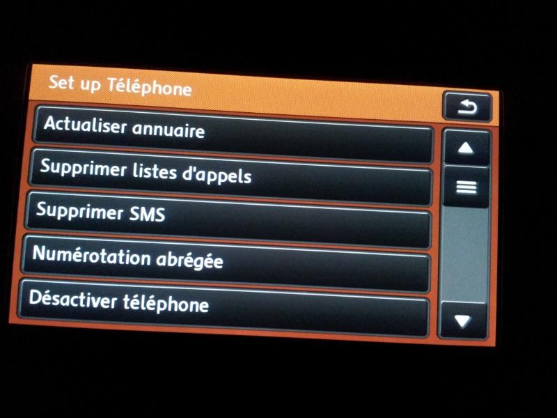 RNS 510 Liste des contacts téléphone 20130417