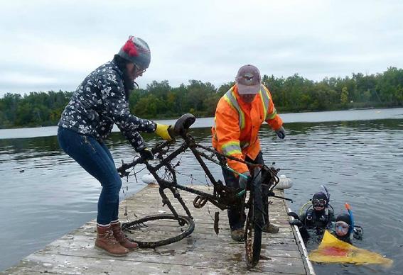 Rapport de plongée - Projet Belle-Eau Phase 2, Rivière des Outaouais - 7 octobre 2018 17-vel10