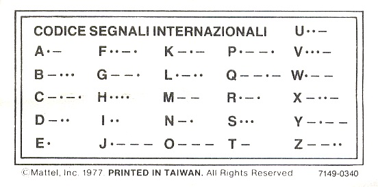 REPRO DI: Codice Morse agente speciale 7149  Codice10
