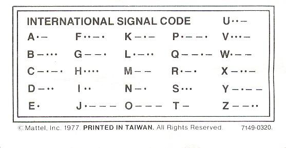 REPRO DI: Codice Morse agente speciale 7149  Intern10