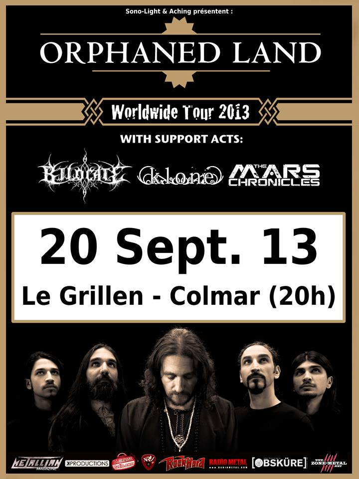 ORPHANED LAND + KLONE + BILOCATE + THE MARS CHRONICLES Orphan10