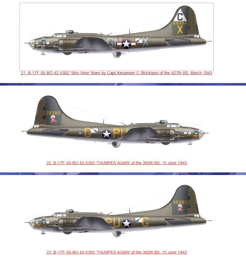 transformation B-17G monogram  en B-17 F 112