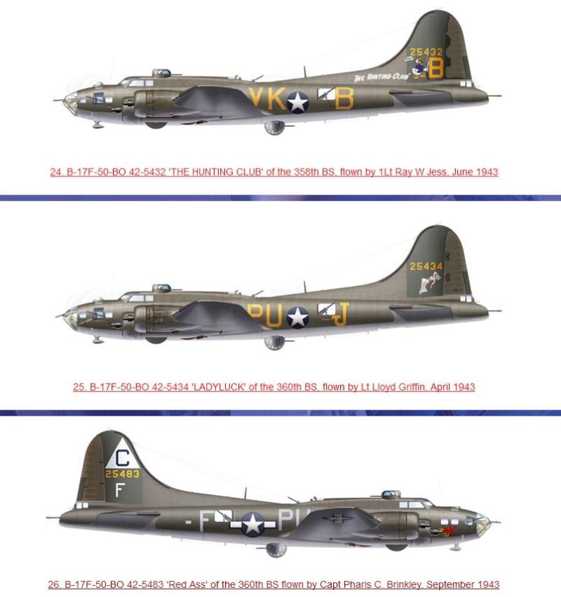 transformation B-17G monogram  en B-17 F 212