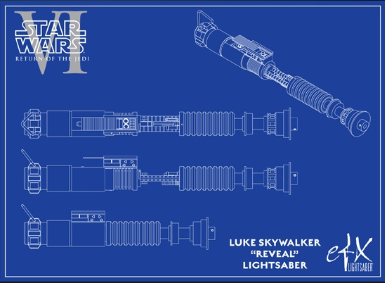 "Efx - Luke Skywalker ""reveal"" lightsaber - ROTJ Sans_t15"