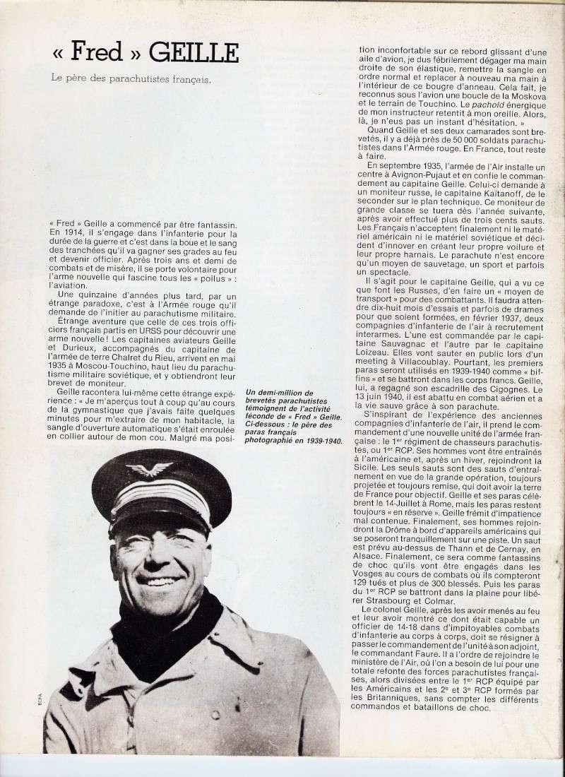 """""""Fred"""" GEILLE Le père des parachutistes français Numari11"""