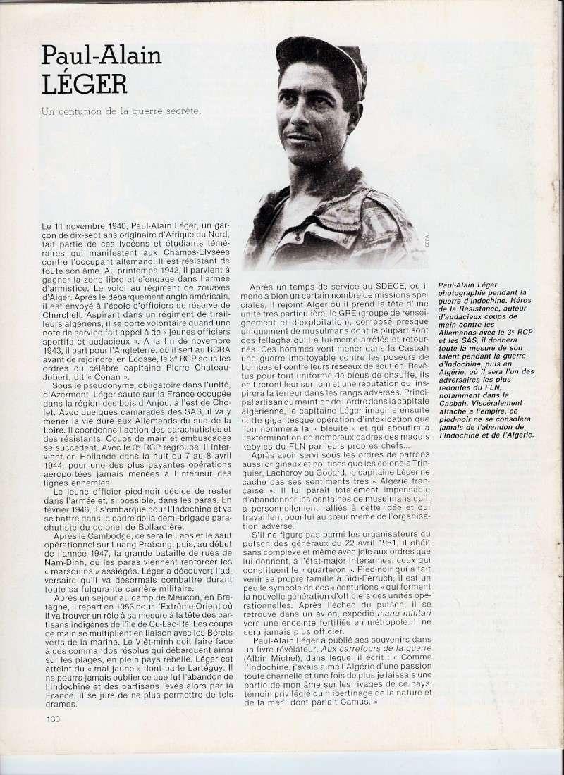 LEGER Paul-Alain capitaine, un Centurion de la guerre secrète Numari12