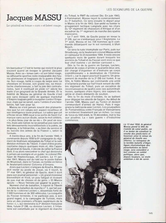 MASSU Jacques Général - officier mythique du 13 mai 1958 à ALGER - comité de salut public Numari37