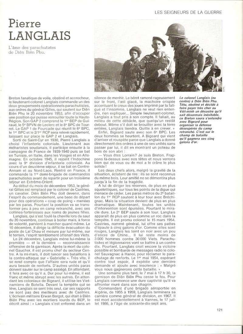 LANGLAIS Pierre, général,  l'Âme des parachutistes de Dien Biên Phu. Numari38