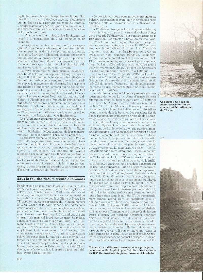 commémoration bataille des Vosges 1945 1er RCP Numari69