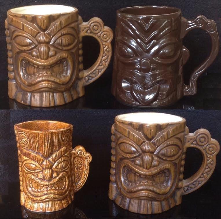 tiki mugs, Hawaiian style, including tiki farm and Studio Ceramics Tikiti10