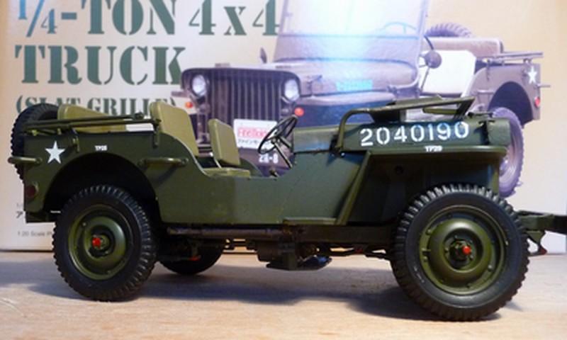 FINEMOLDS 1/20éme - U.S.ARMY 1/4 ton 4X4 TRUCK - JEEP ( SLAT GRILLE) - Page 2 P1050728