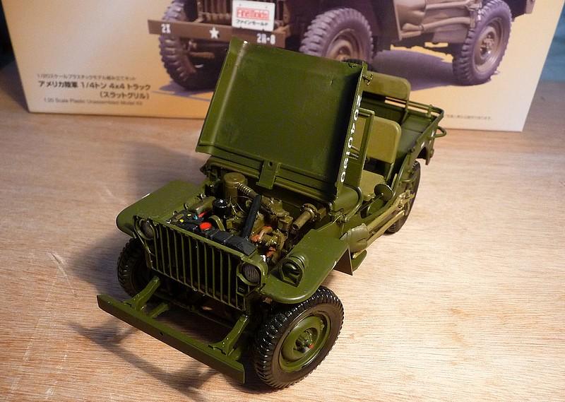 FINEMOLDS 1/20éme - U.S.ARMY 1/4 ton 4X4 TRUCK - JEEP ( SLAT GRILLE) - Page 2 P1050733