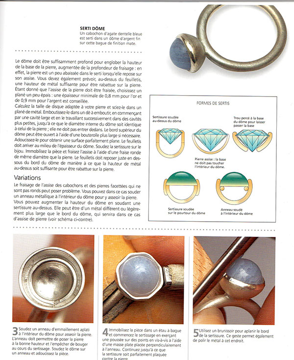 "Livre "" le sertissage des bijoux"" Fff210"