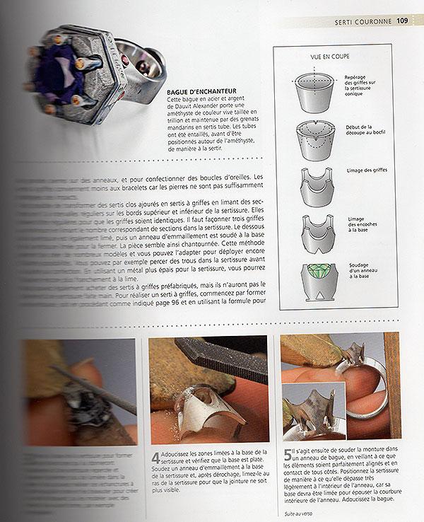 "Livre "" le sertissage des bijoux"" Fff410"