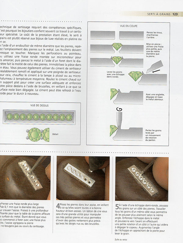 "Livre "" le sertissage des bijoux"" Ffff110"