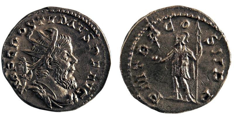 Rubans sur Antoninien de Postume Postum10