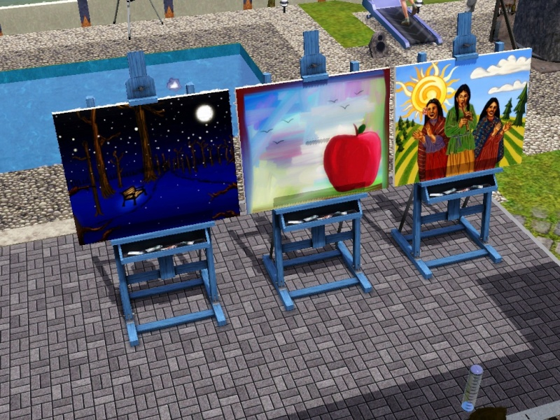 Brush Strokes - What's your Sim Painting? Screen98